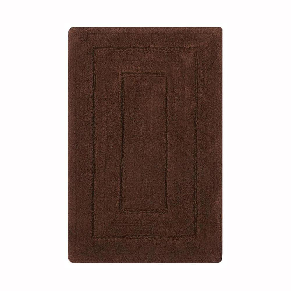 Newport Chocolate 20 in. x 32 in. Cotton Bath Rug