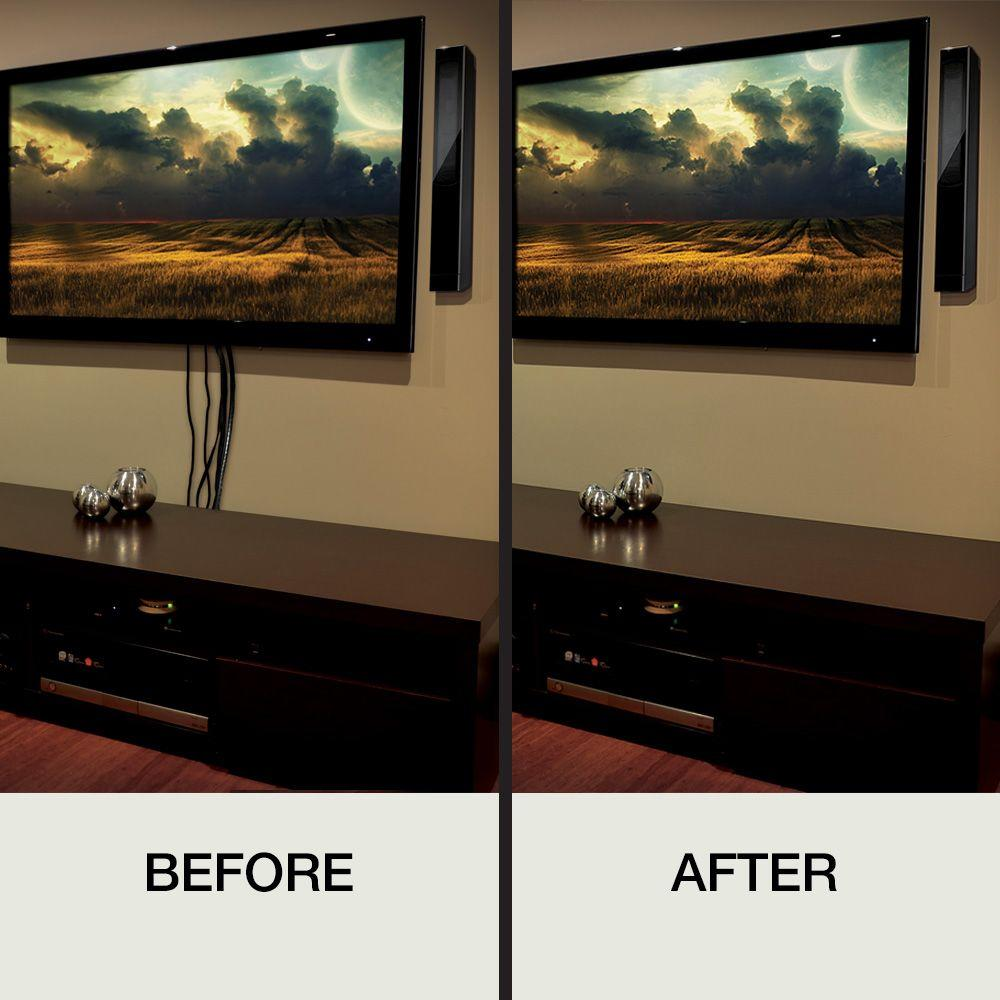 Hanging Tv On Wall Where To Put Cable Box. Medium Size Of It Tv ...