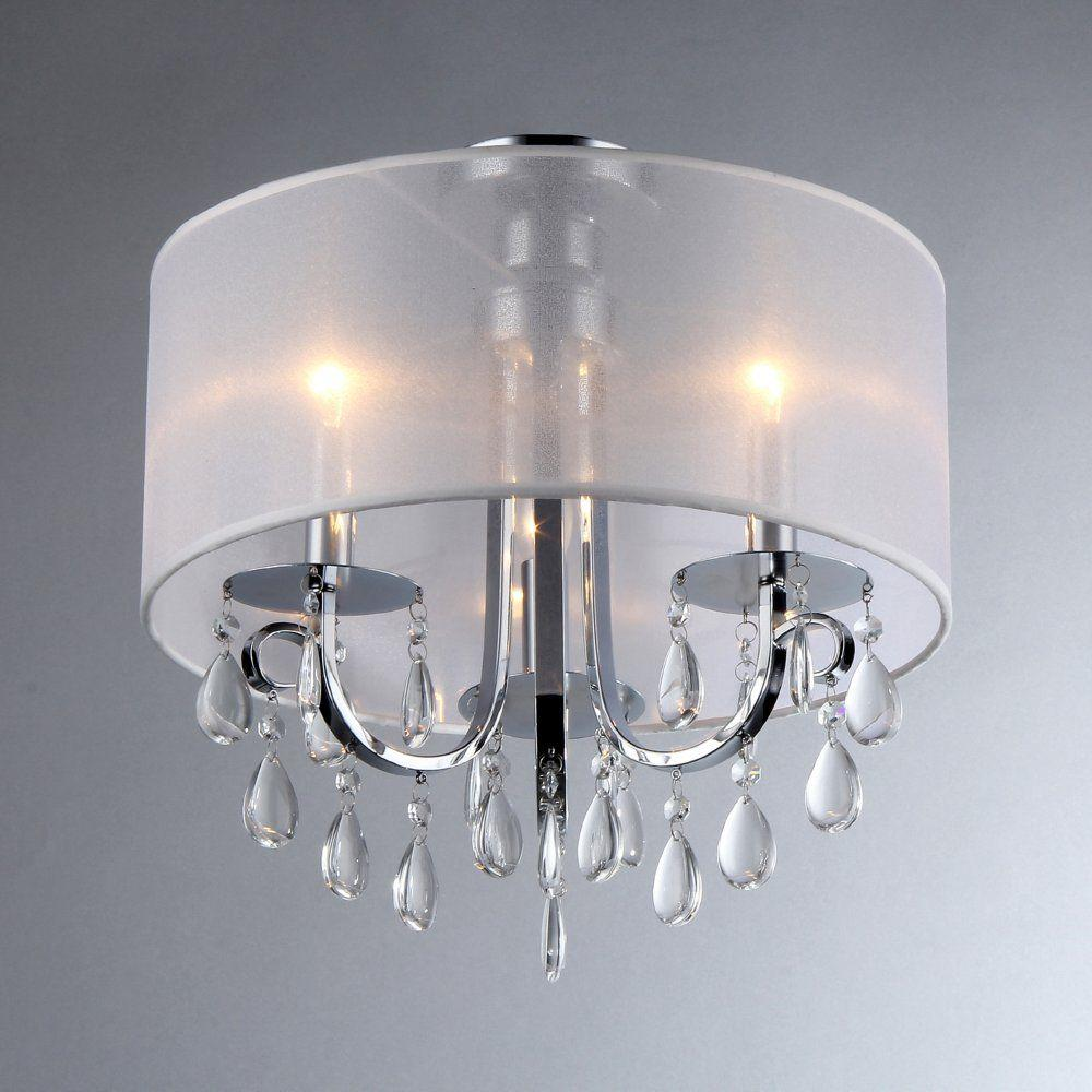 Warehouse of Tiffany Muses 3-Light Chrome Chandelier