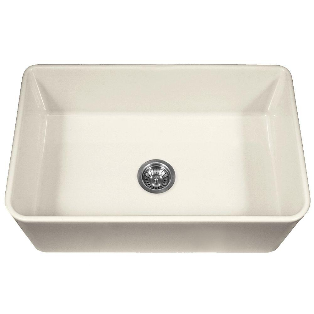 Houzer Platus Series Farmhouse Apron Front Fireclay 33 in. Single Bowl