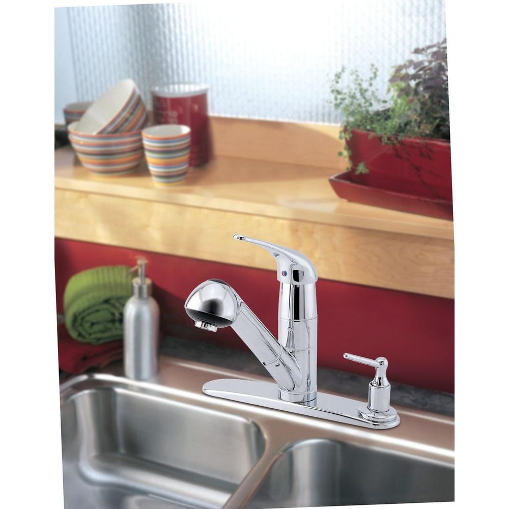 Danze Melrose Kitchen Faucet Danze Melrose Single Handle Pull Out Sprayer Kitchen Faucet With