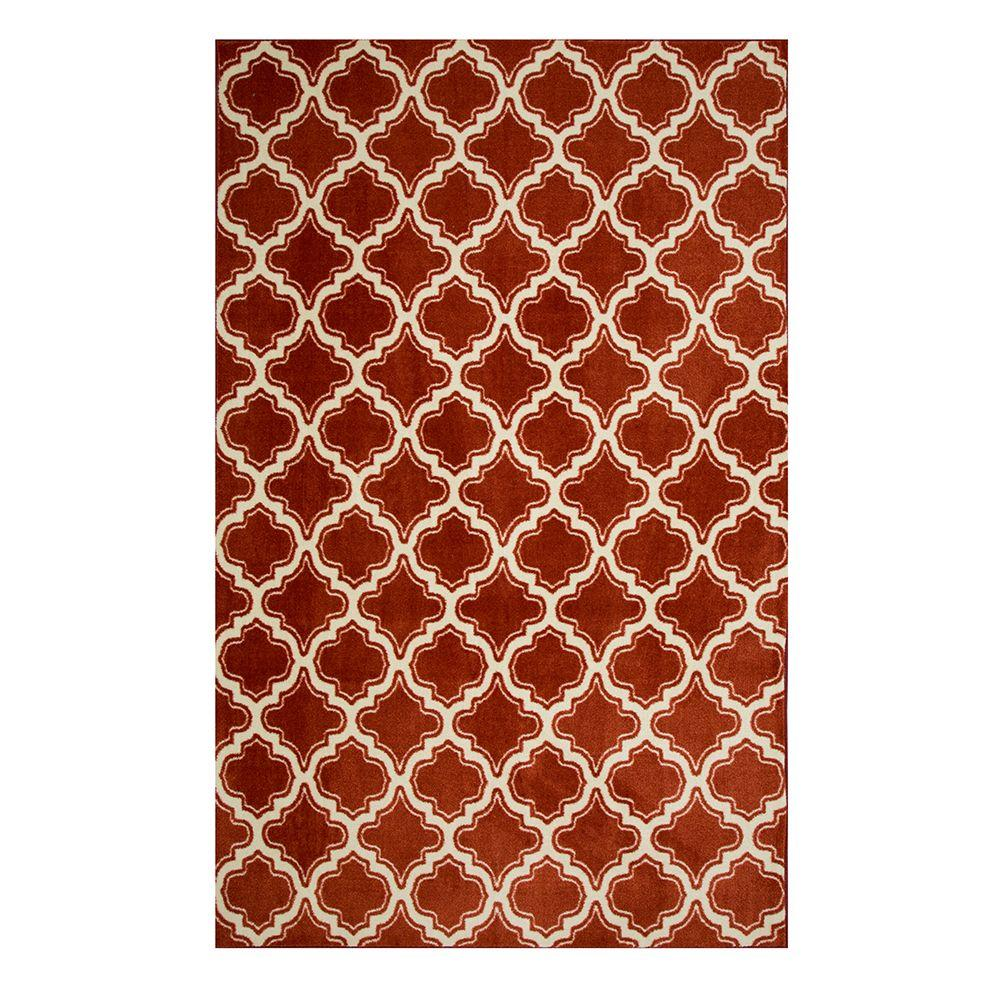 Calabasas Uno Red 5 ft. x 8 ft. Area Rug