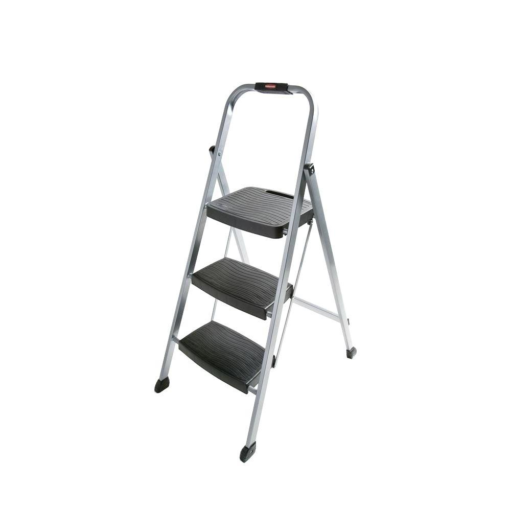 Rubbermaid 3 Step Steel Step Stool Ladder Rm 3w The Home