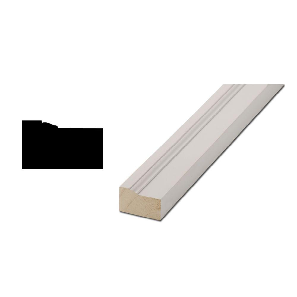 Woodgrain Millwork WM 180 1-3/16 in. x 2 in. x 84 in. Primed Finger-Jointed Brickmould Moulding