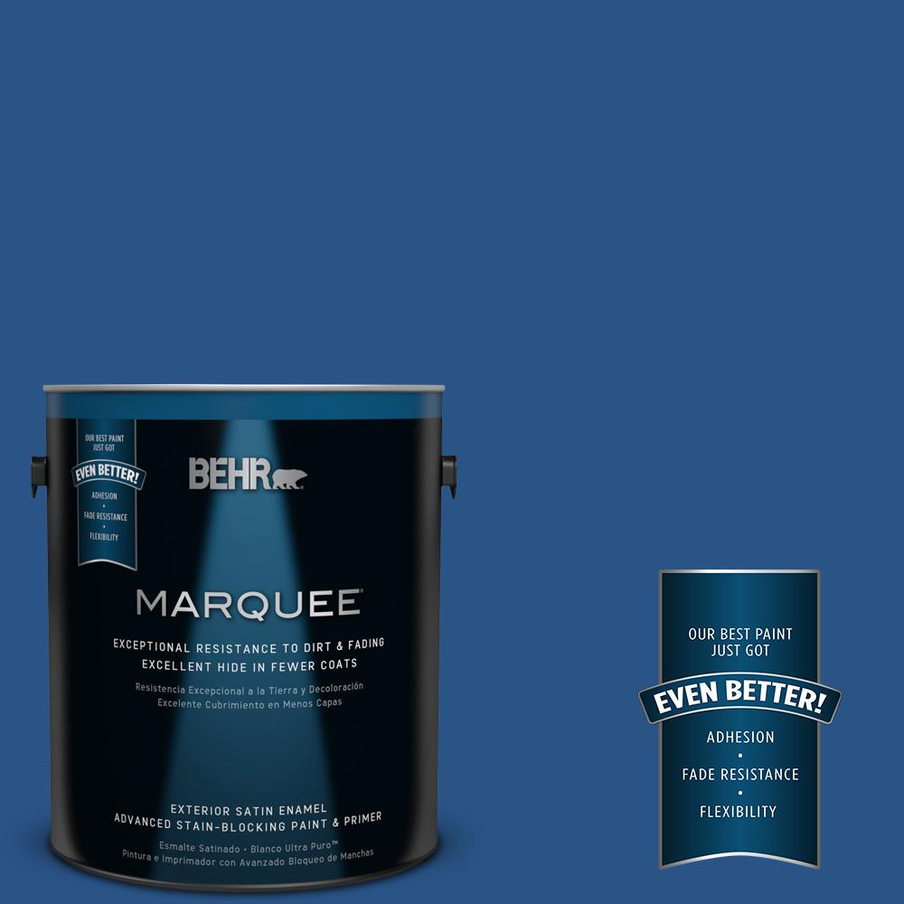 1-gal. #590B-7 Award Blue Satin Enamel Exterior Paint
