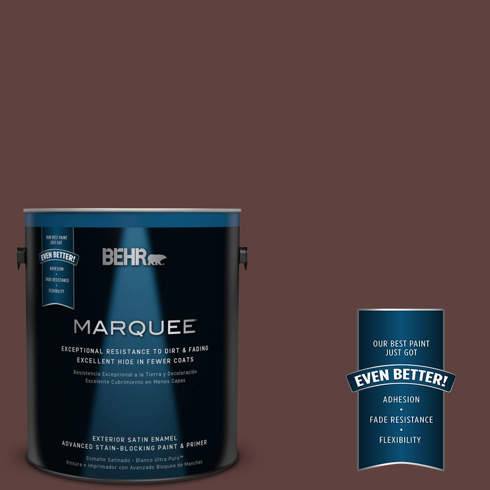 1-gal. #BXC-21 Chicory Root Satin Enamel Exterior Paint