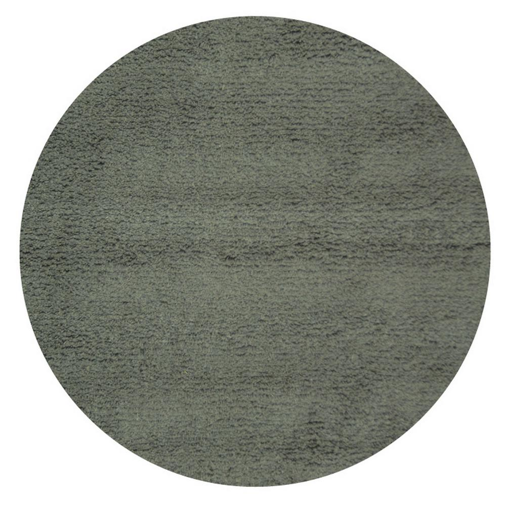 Classic Shag Charcoal 4 ft. x 4 ft. Round Area Rug