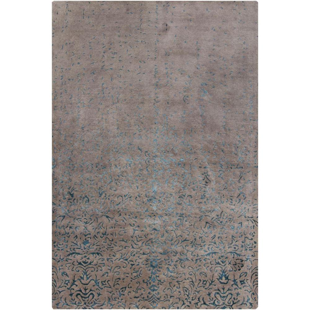 Chandra Rupec Grey/Blue 7 ft. 9 in. x 10 ft. 6