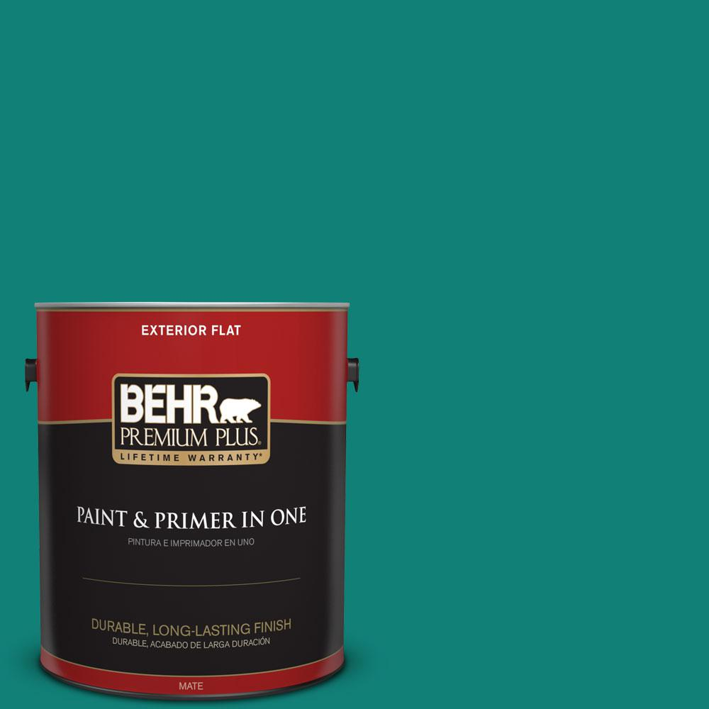 Home Decorators Collection 1-gal. #HDC-WR14-9 Green Garlands Flat Exterior Paint