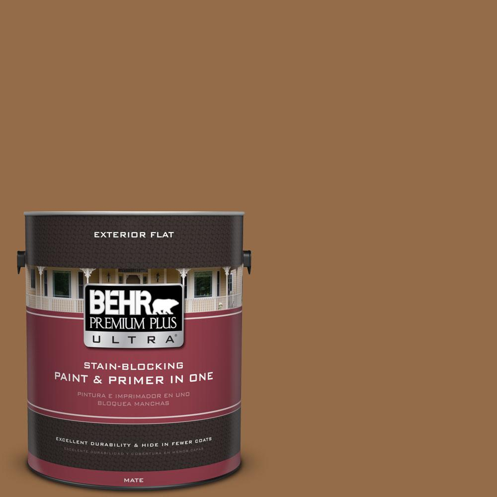 1-gal. #S260-7 Nugget Gold Flat Exterior Paint