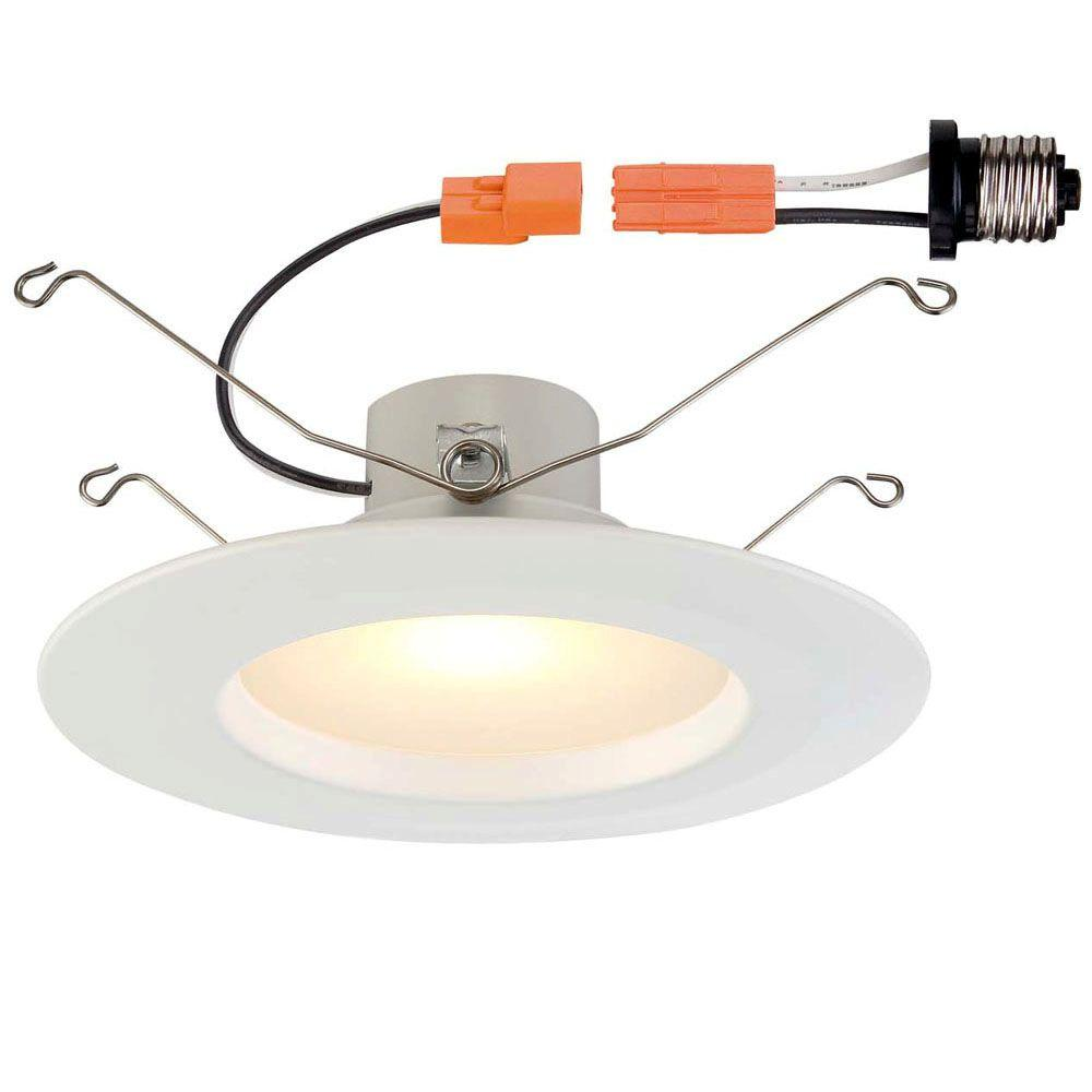 5 in. and 6 in. White Recessed LED Trim with 2700K, 90 CRI