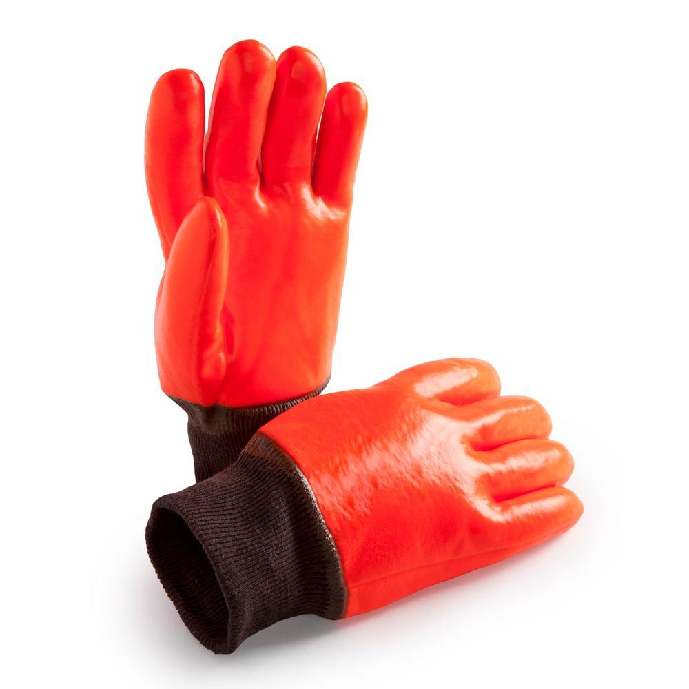 HANDS ON Lined PVC Coated Glove-CD9050-HOWI-L - The Home Depot