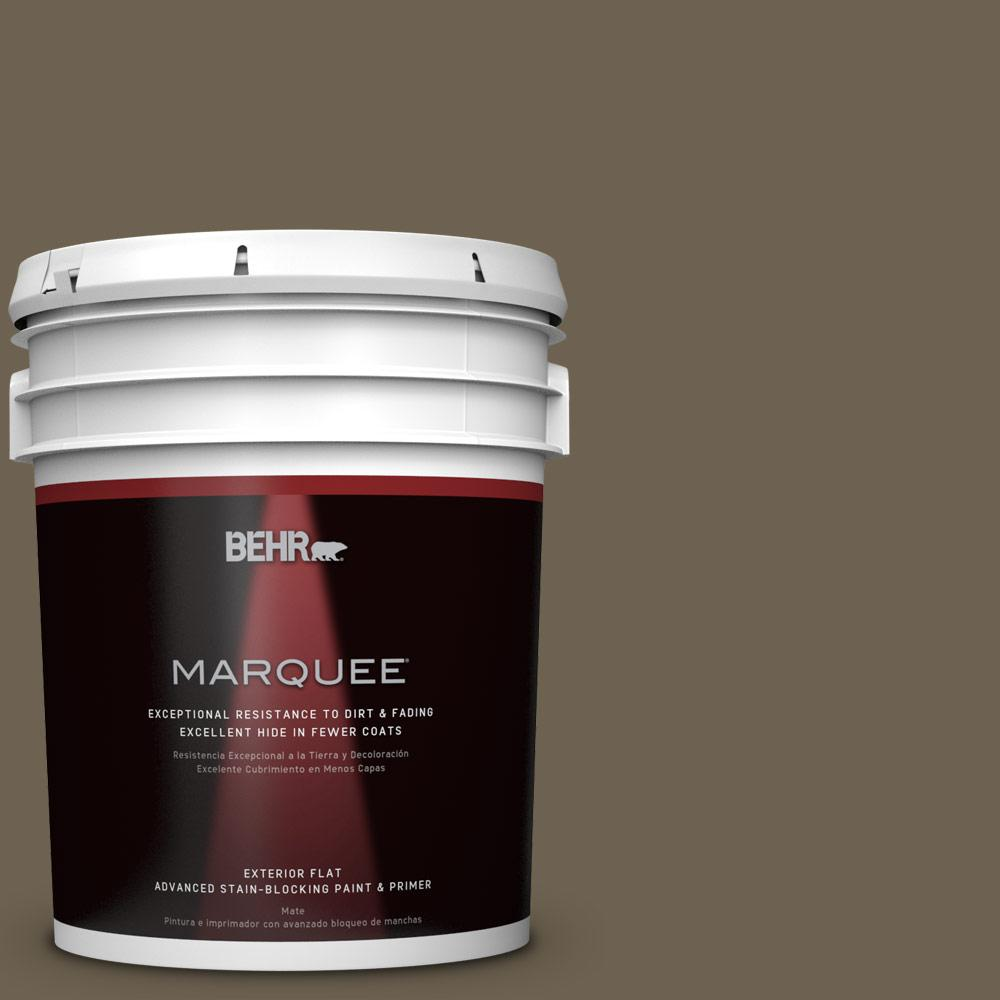 5-gal. #N310-7 Classic Bronze Flat Exterior Paint