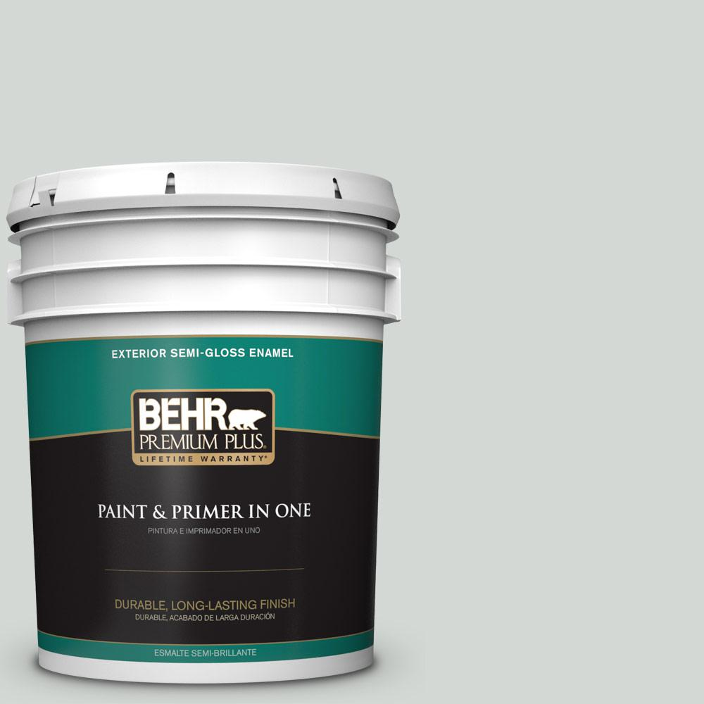 5 gal. #PPU25-13 Misty Coast Semi-Gloss Enamel Exterior Paint