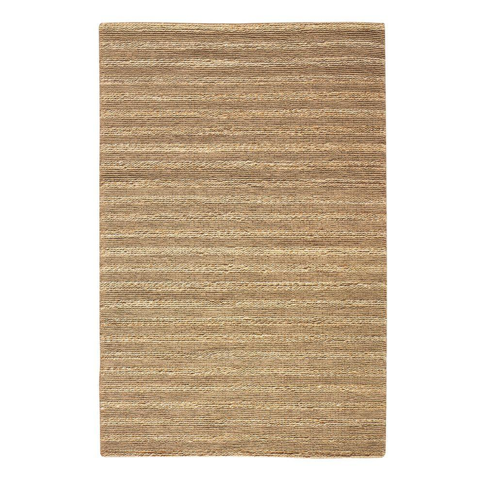 Banded Jute Natural 8 ft. x 11 ft. Area Rug
