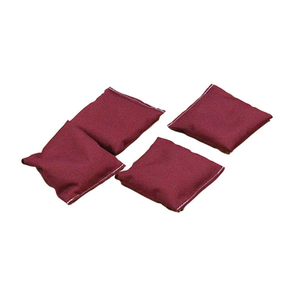 Burgundy Bean Bags (Set of 4)