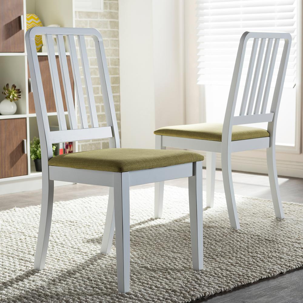 Home Styles Rubbed White Wood Double X-Back Dining Chair