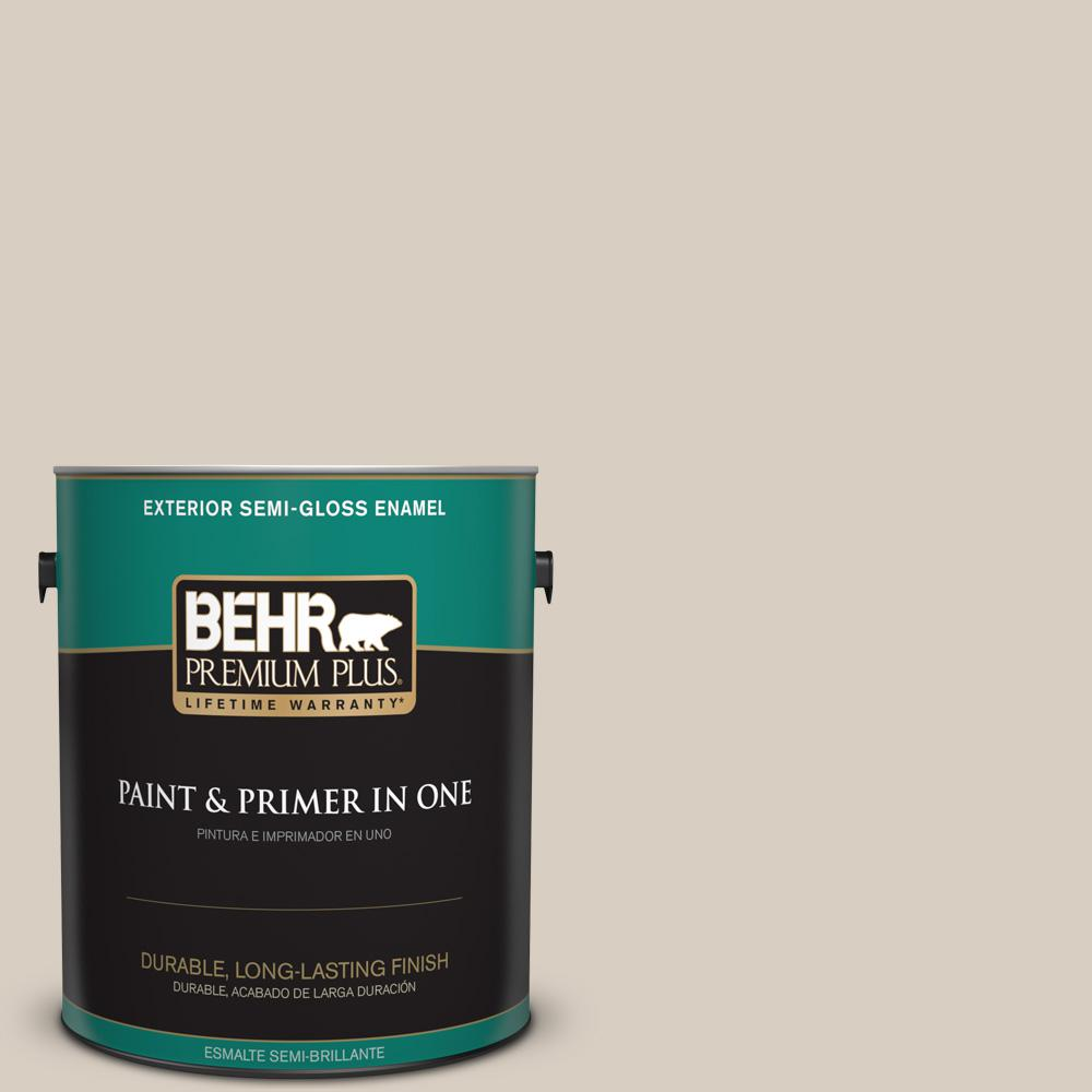 1 gal. #PPU7-09 Aged Beige Semi-Gloss Enamel Exterior Paint