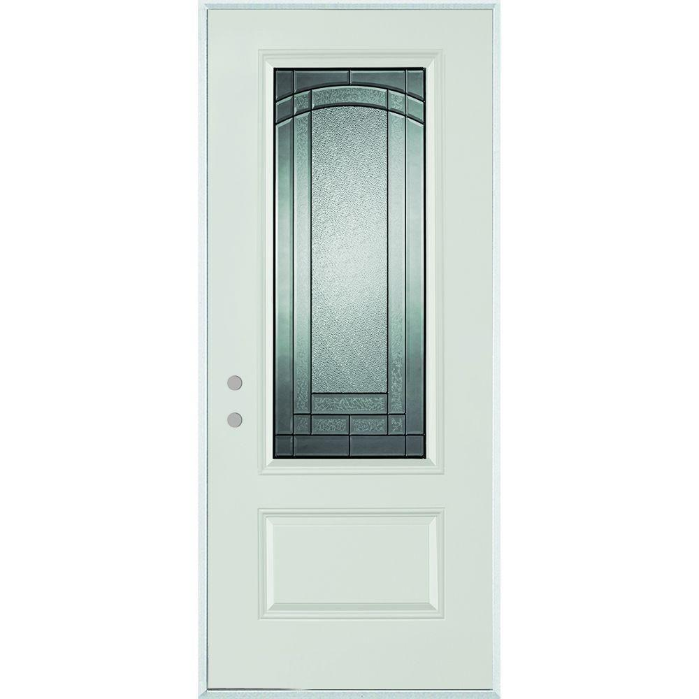 Stanley doors in x in chatham 3 4 lite 1 for Steel front entry doors