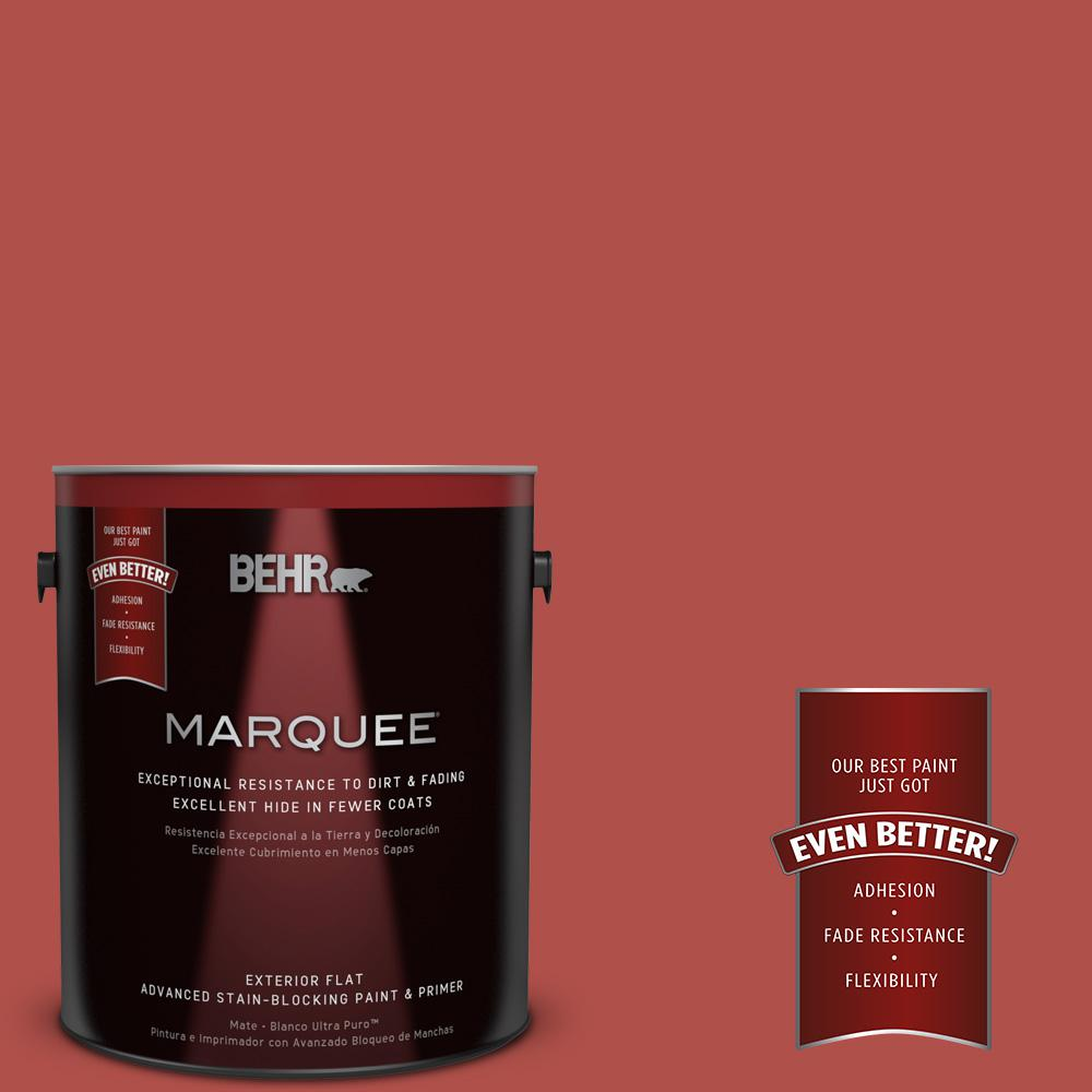 BEHR MARQUEE 1-gal. #UL110-8 Carmine Red Flat Exterior Paint-445301 - The