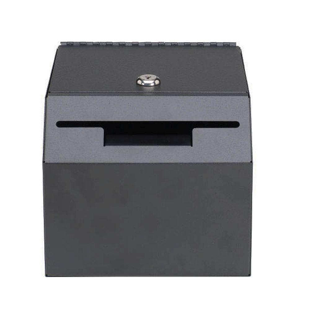 STEELMASTER Lockable Suggestion Drop Box Safe with 2 Keys Included,