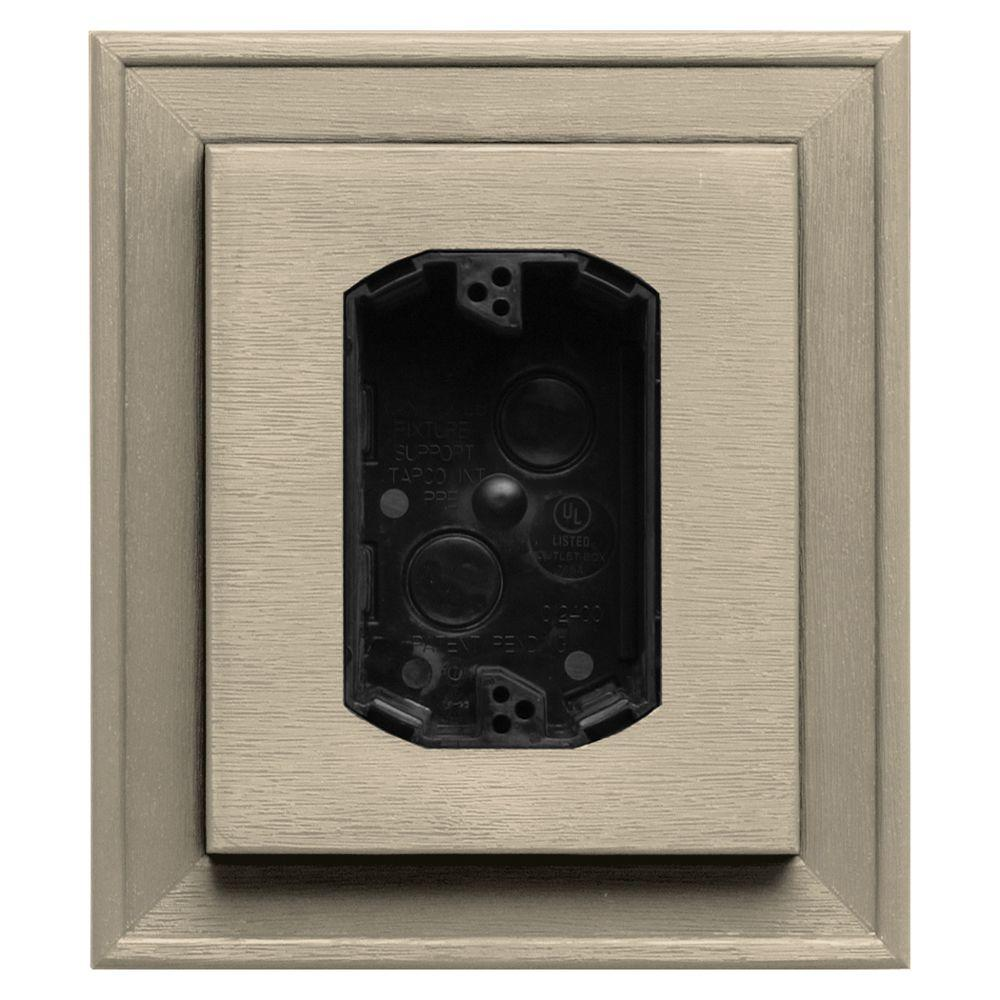 7 in. x 8 in. #049 Almond Electrical Mounting Block
