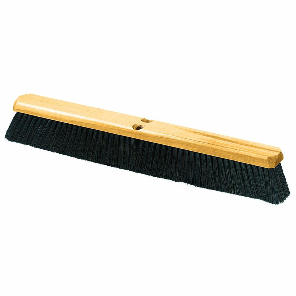 18 in. Medium Sweep Broom, Tampico Bristle with Wire Center (Case