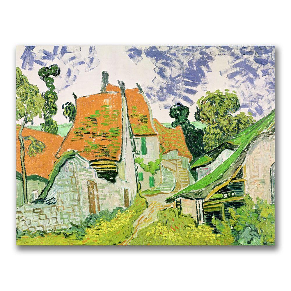 24 in. x 32 in. Street in Auvers-sur-Oise Canvas Art