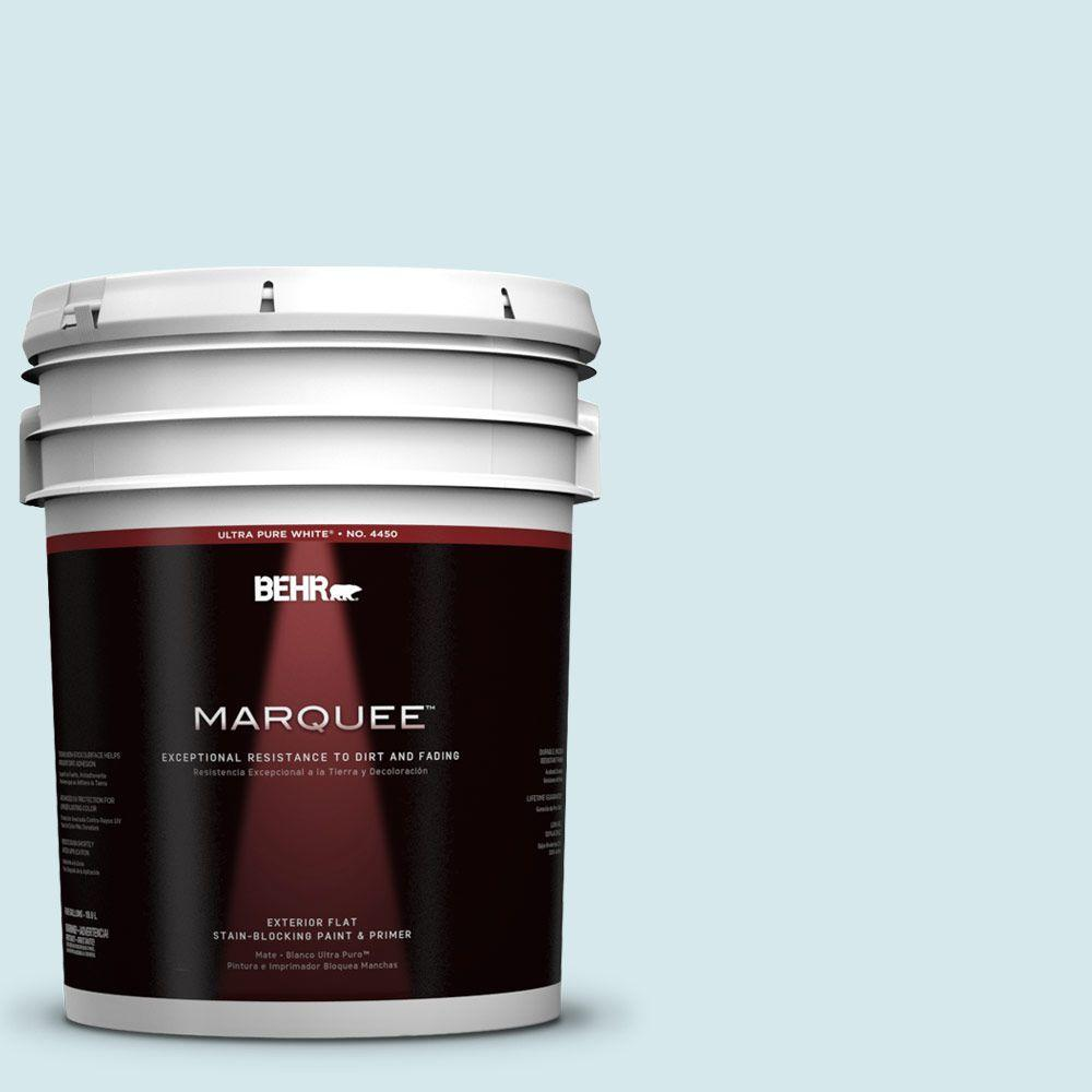 Interior Paint, Exterior Paint & Paint Samples: BEHR MARQUEE Paint 5-gal. #S490-1 Permafrost Flat Exterior Paint 445005