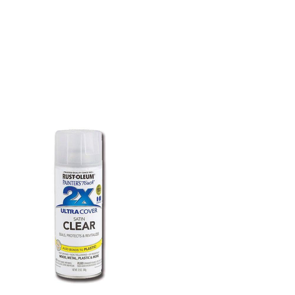 12 oz. Clear Satin General Purpose Spray Paint (Case of 6)