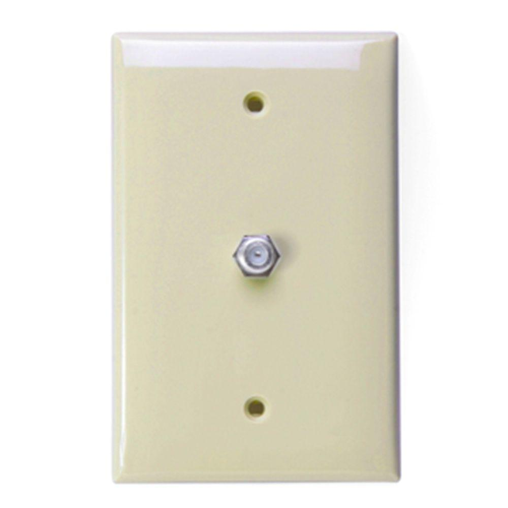 Leviton 1-Gang Midway CATV Wall Plate - Ivory-R60-40539-0MI - The Home