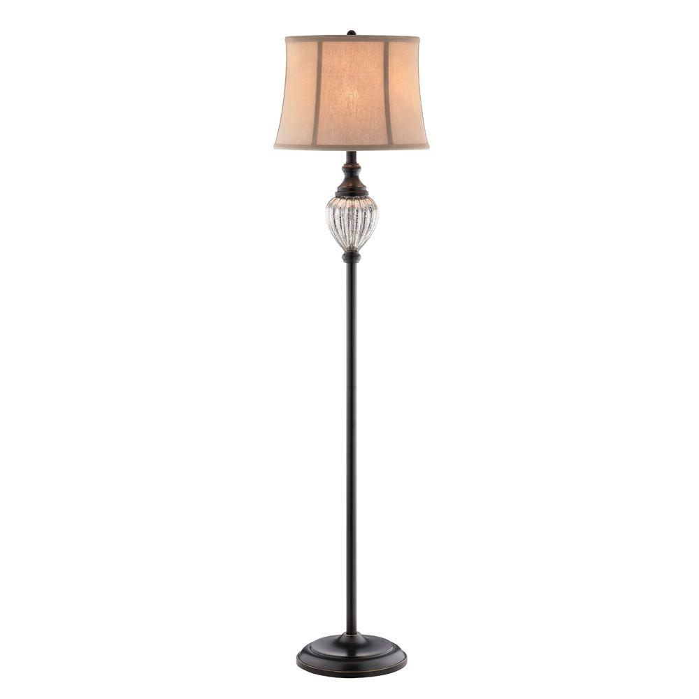 Oil Rubbed Bronze Mercury Glass Font Floor Lamp - Hampton Bay Highgate 58.25 In. Oil Rubbed Bronze Mercury Glass