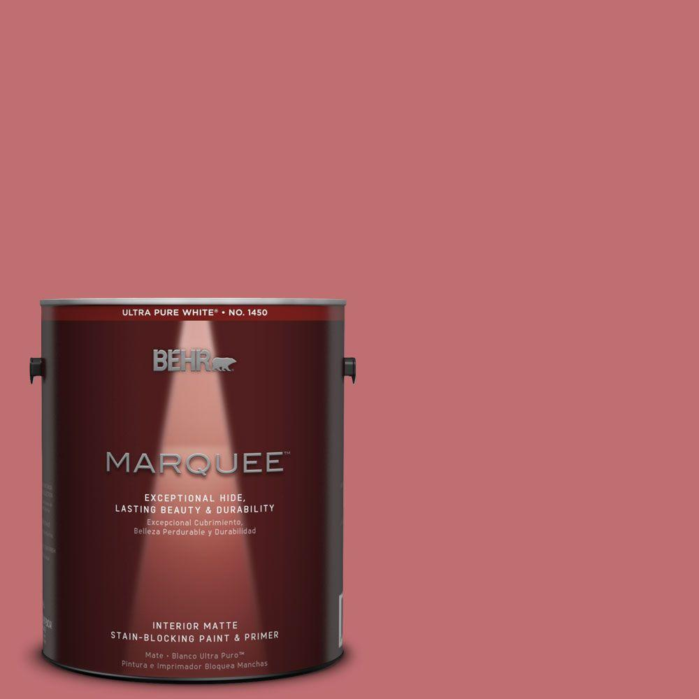 BEHR MARQUEE 1 gal. #HDC-SP14-8 Art House Pink Matte Interior Paint