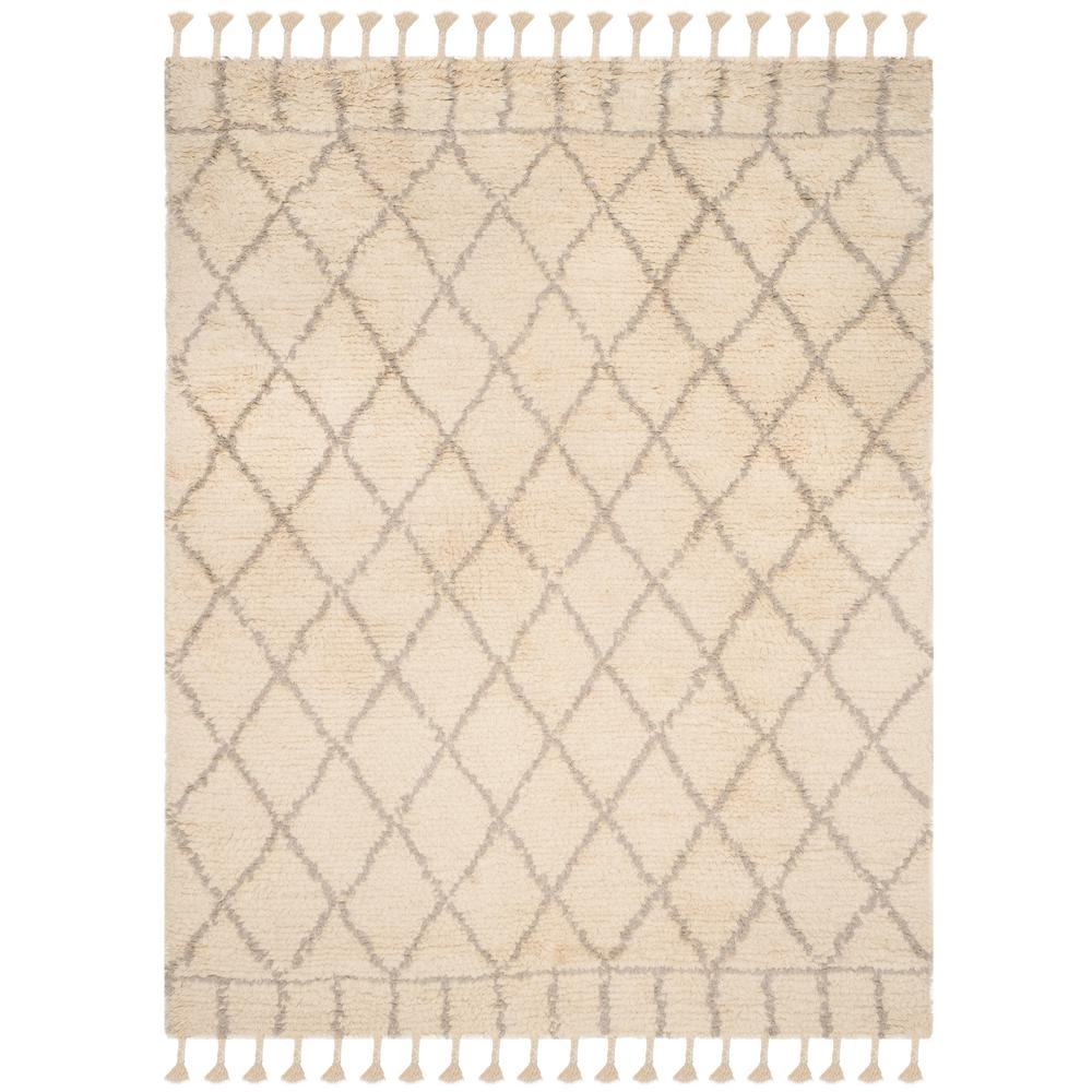 Casablanca Ivory/Light Gray 9 ft. x 12 ft. Area Rug
