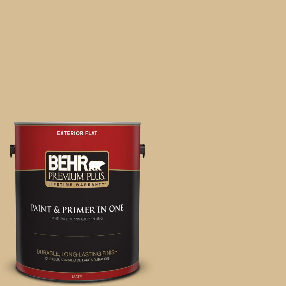 1-gal. #330F-4 Pebble Path Flat Exterior Paint
