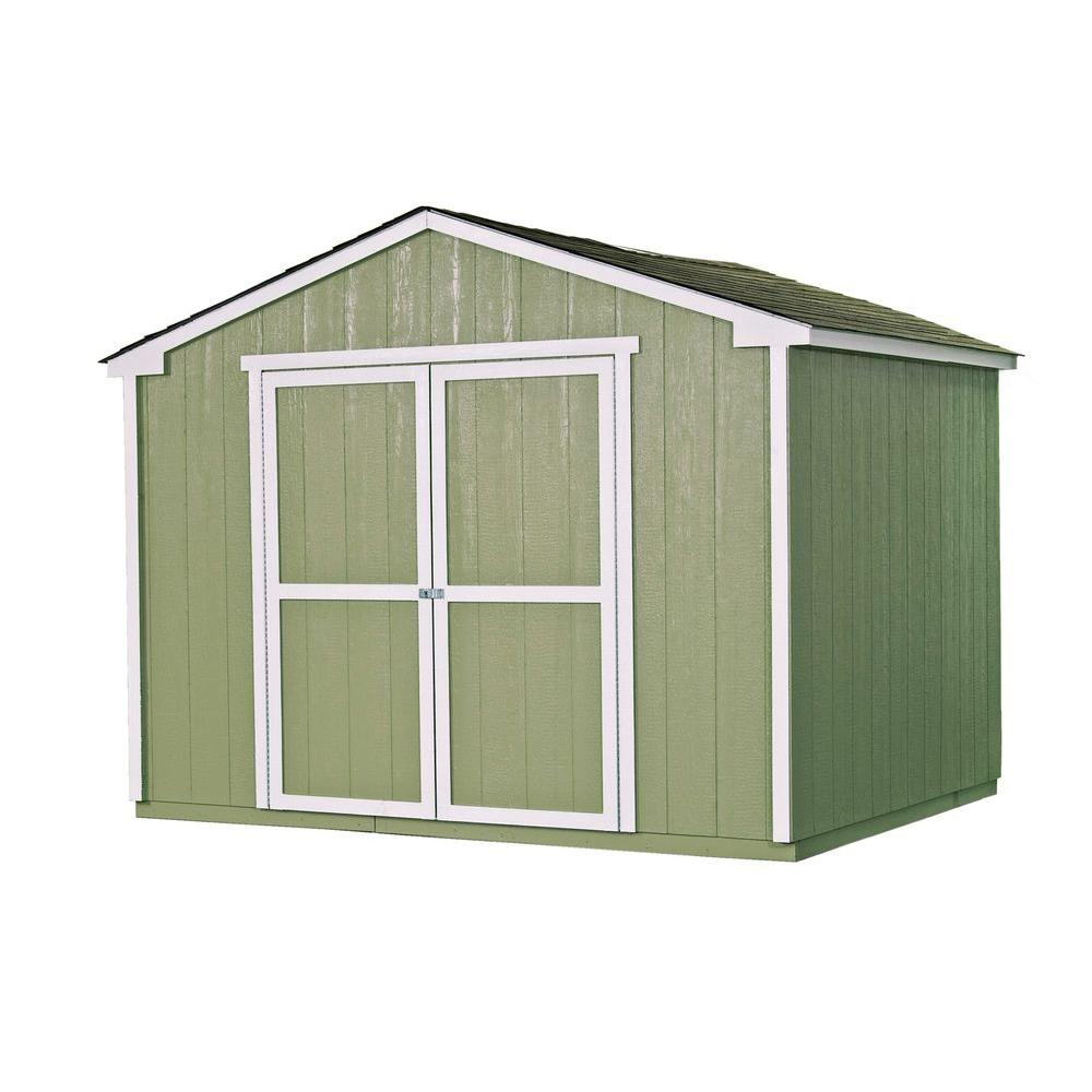 Cumberland 10 ft. x 8 ft. Wood Shed Kit with Floor