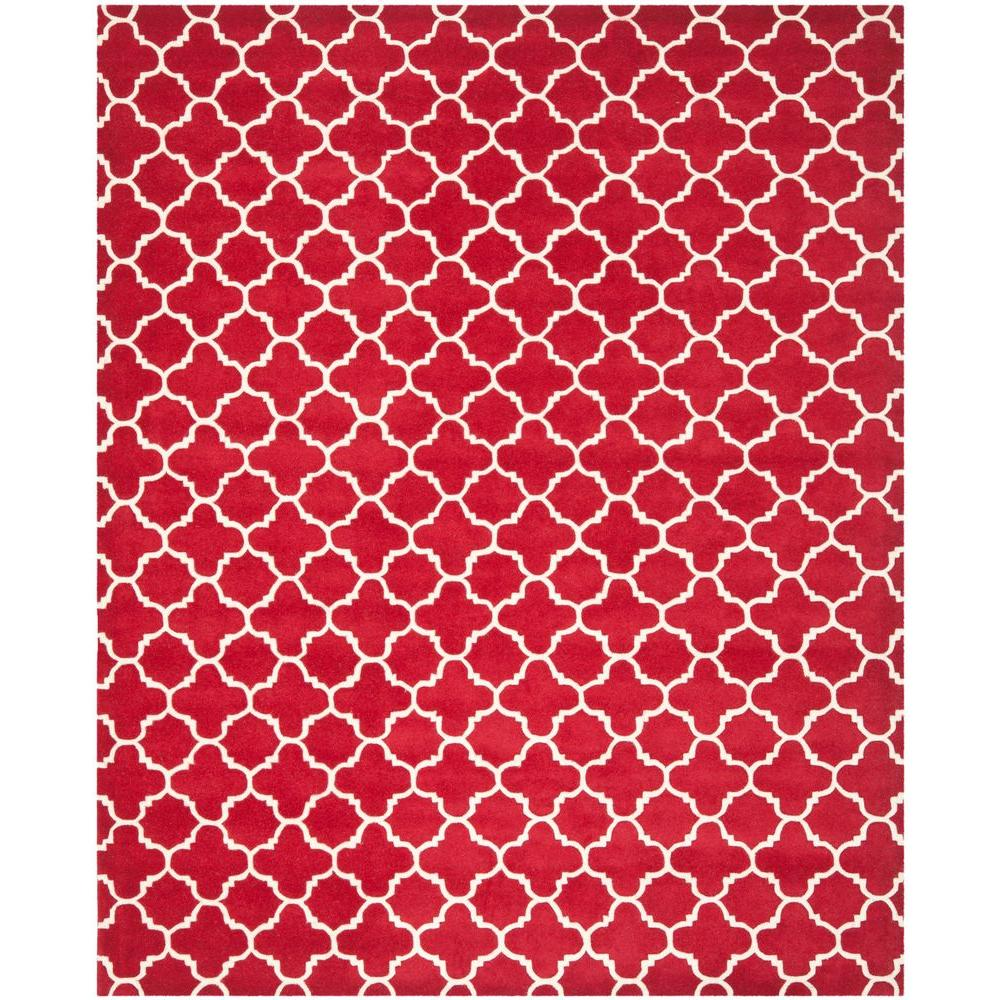 Safavieh Chatham Red/Ivory 8 ft. x 10 ft. Area Rug-CHT717G-8 -
