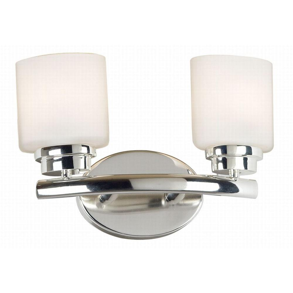 Kenroy Home Bow 9 in. Brushed Steel 2 Light Vanity -DISCONTINUED
