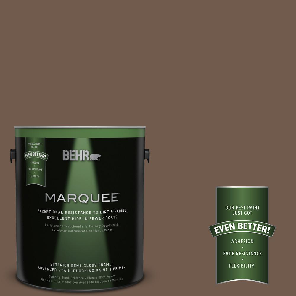 1-gal. #PPF-52 Rich Brown Semi-Gloss Enamel Exterior Paint