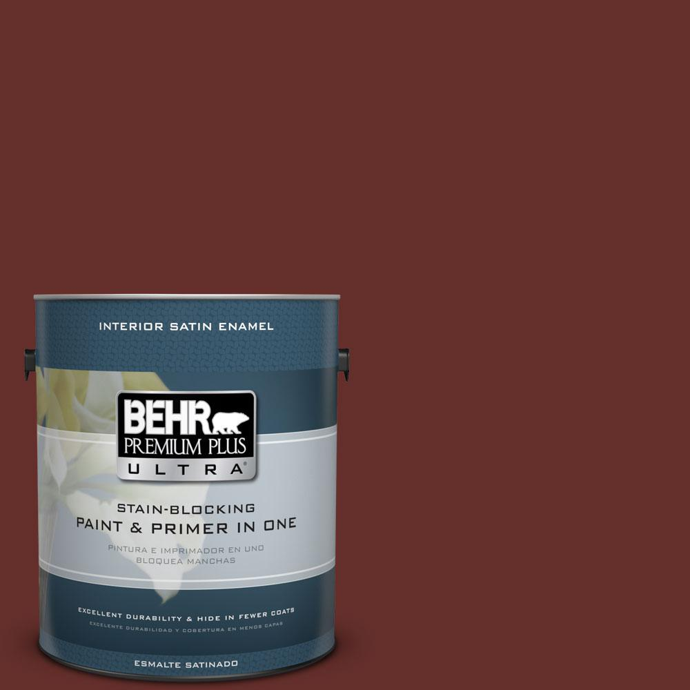 BEHR Premium Plus Ultra 1-gal. #ECC-31-3 Autumn Leaves Satin Enamel Interior Paint