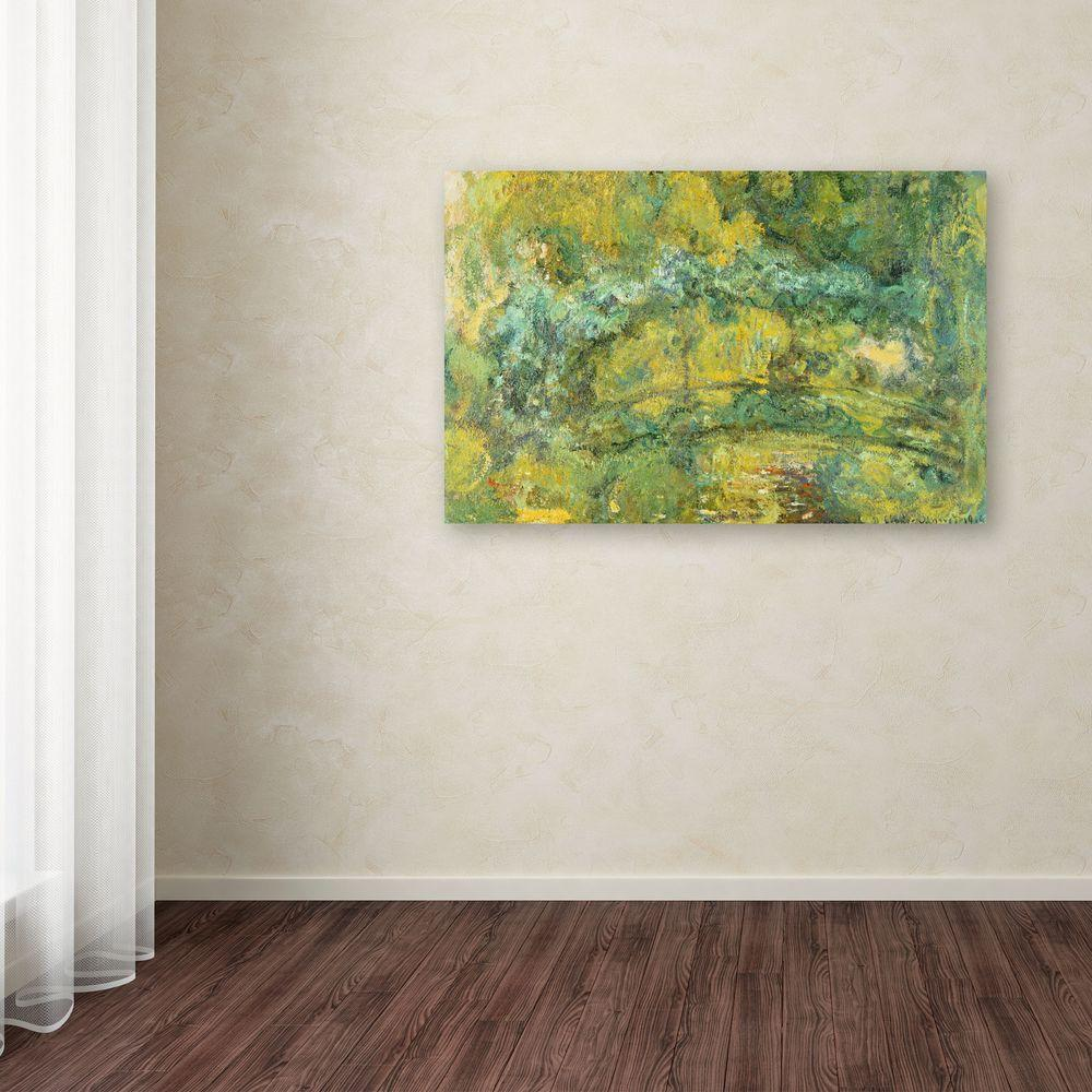 "12 in. x 19 in. ""Passage on Waterlily Pond, 1919"" Canvas"