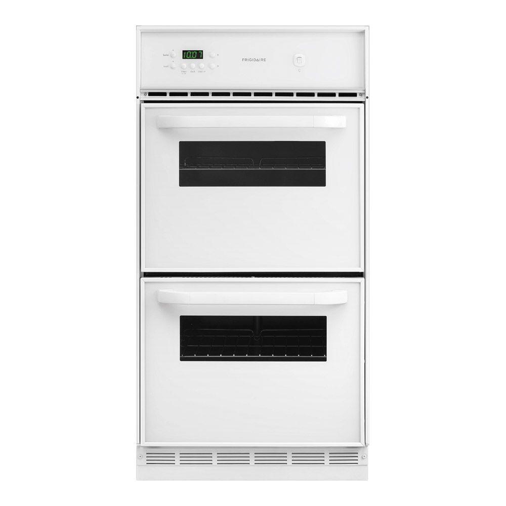 Frigidaire 24 in. Single Gas Wall Oven with Lower Broiler in White
