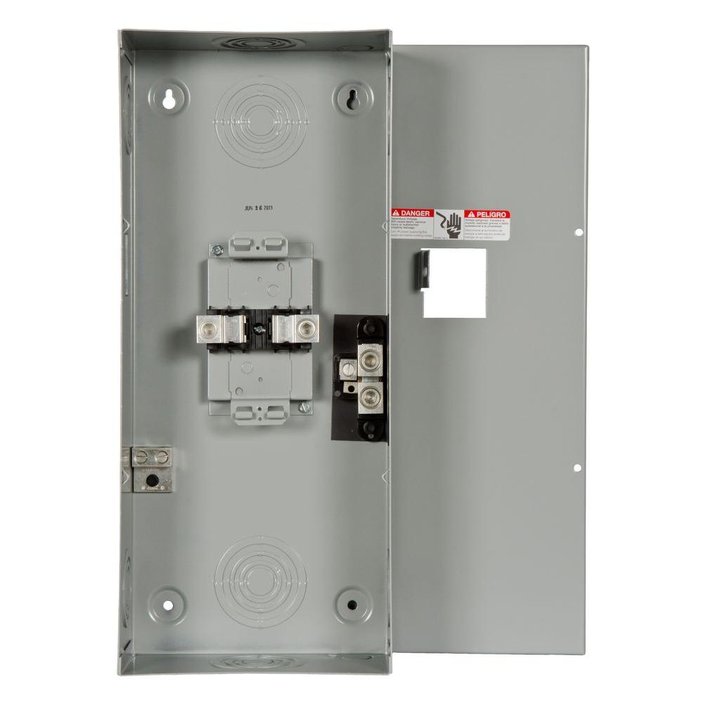 200-Amp 2-Space 4-Circuit Main Lug Load Center
