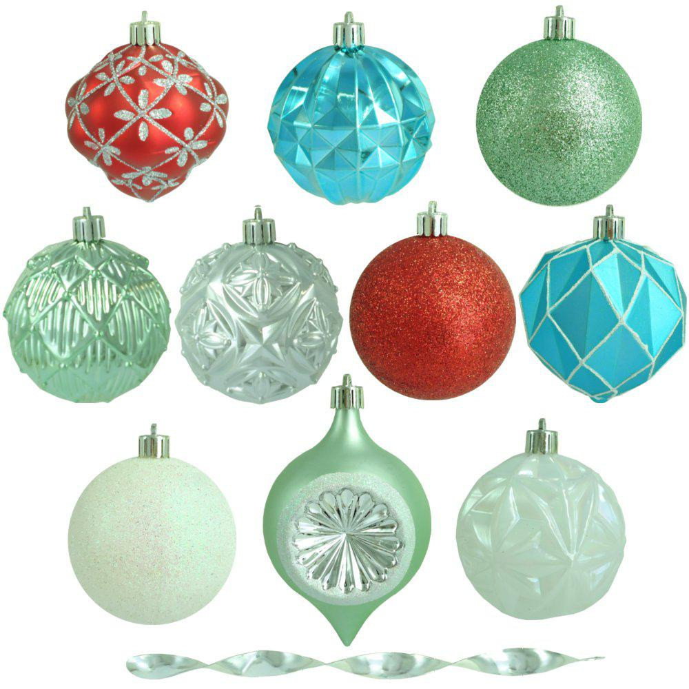3 in. Christmas Morning Shatter-Resistant Ornament (75-Count)