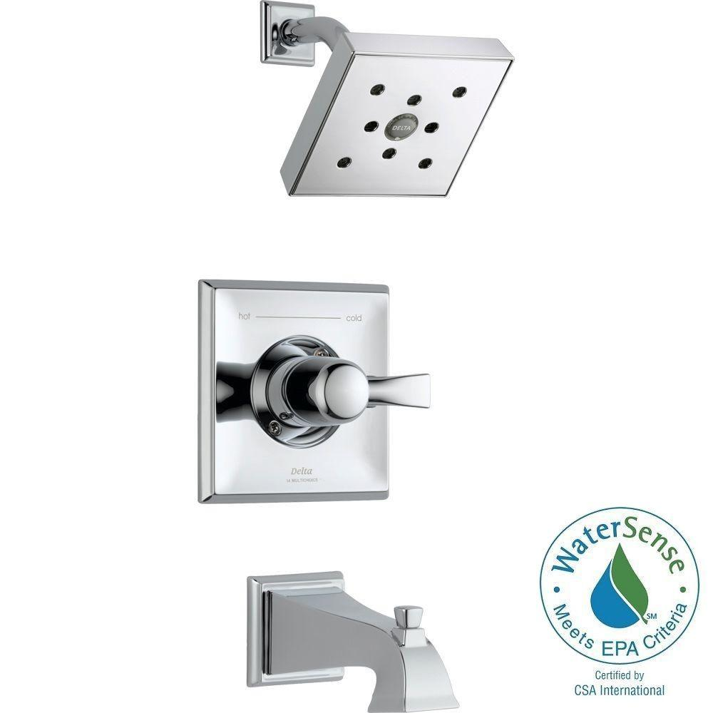 Dryden 1-Handle H2Okinetic 1-Spray Tub and Shower Faucet Trim Kit in