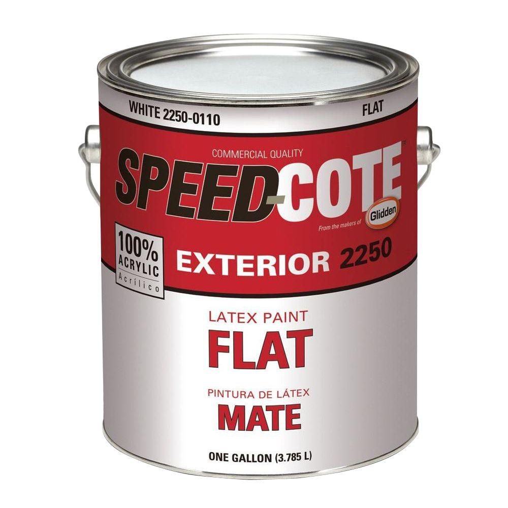 speed cote 1 gal flat deep base exterior latex paint 2250 0400 01 the home depot. Black Bedroom Furniture Sets. Home Design Ideas