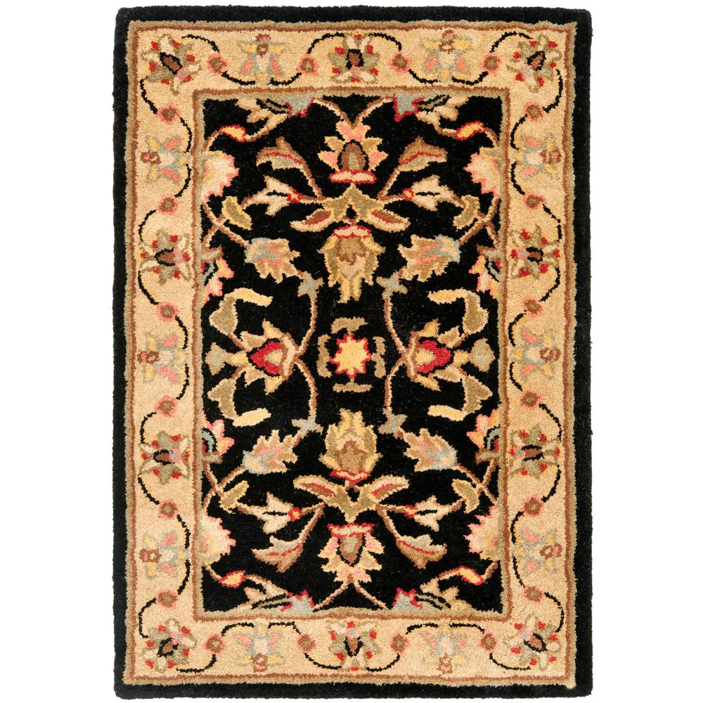 Heritage Black/Gold 2 ft. 3 in. x 4 ft. Area Rug