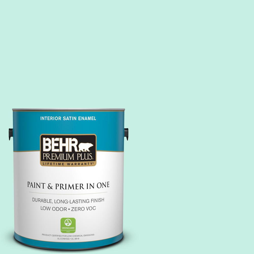 1-gal. #P430-1 Summer House Satin Enamel Interior Paint