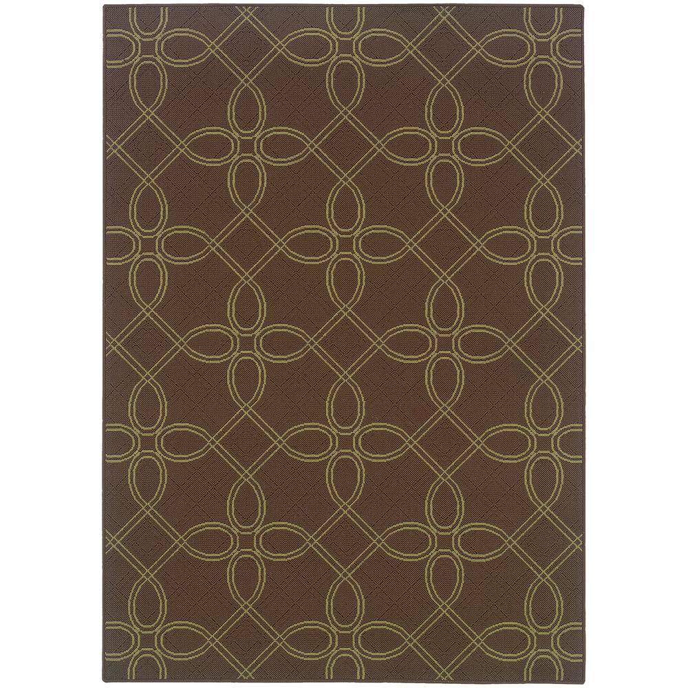 Labyrinth Brown 5 ft. 3 in. x 7 ft. 6 in.