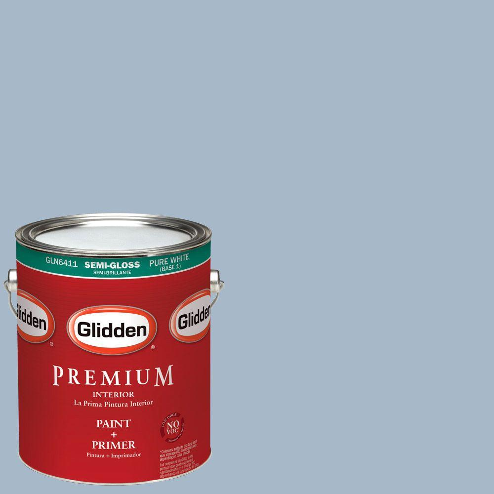 1 gal. #HDGV24 Antwerp Blue Semi-Gloss Interior Paint with Primer